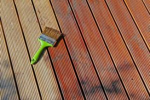 You need to treat wood decking ti keep in shape